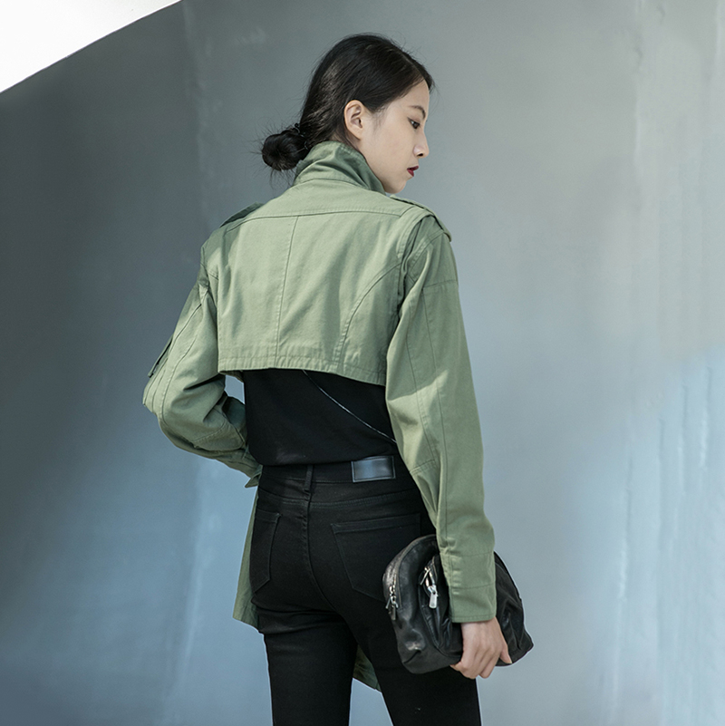 [EAM] Loose Fit Back Irregular Two Ways Wear Big Size Jacket New Lapel Long Sleeve Women Coat Fashion Spring Autumn 2020 1DA902 5