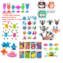 FreeShip Monster themed Toy Finger puppet Crawler Jump Tattoo Sticker Sand Alive Sticky Creature Asst.Party favor for kids child