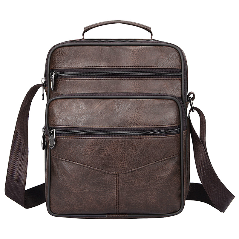 Classic Crossbody Bag Man Notebook Pack Business Messenger Briefcase Vintage Coffee Shoulder Bag Men Large Leather Handbag Male
