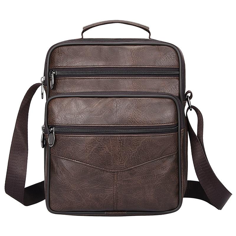 Classic Crossbody Bag Man Notebook Pack Business Messenger Briefcase Vintage Coffee Shoulder Bag Men Large Leather Handbag Male