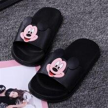 Femme été pantoufles mignon plage sandales mode bout ouvert diapositives Mini Mickey Animal pantoufles confort chaussures doux EVA sandales(China)