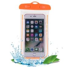 Универсальный Водонепроницаемый Чехол для плавания светящийся подводный чехол для телефона размером меньше 5,5 дюйма