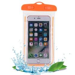 1 قطعة أكياس السباحة حقيبة مقاوم للماء مع مضيئة تحت الماء الحقيبة جراب هاتف ل حقيبة هاتف مقاومة للماء الرياضات المائية