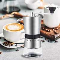SZS Hot Stainless Steel Hand Crank Grinding Conical Ceramic Coffee Grinder Manual Coffee Grinder Mill with Ceramic Burrs