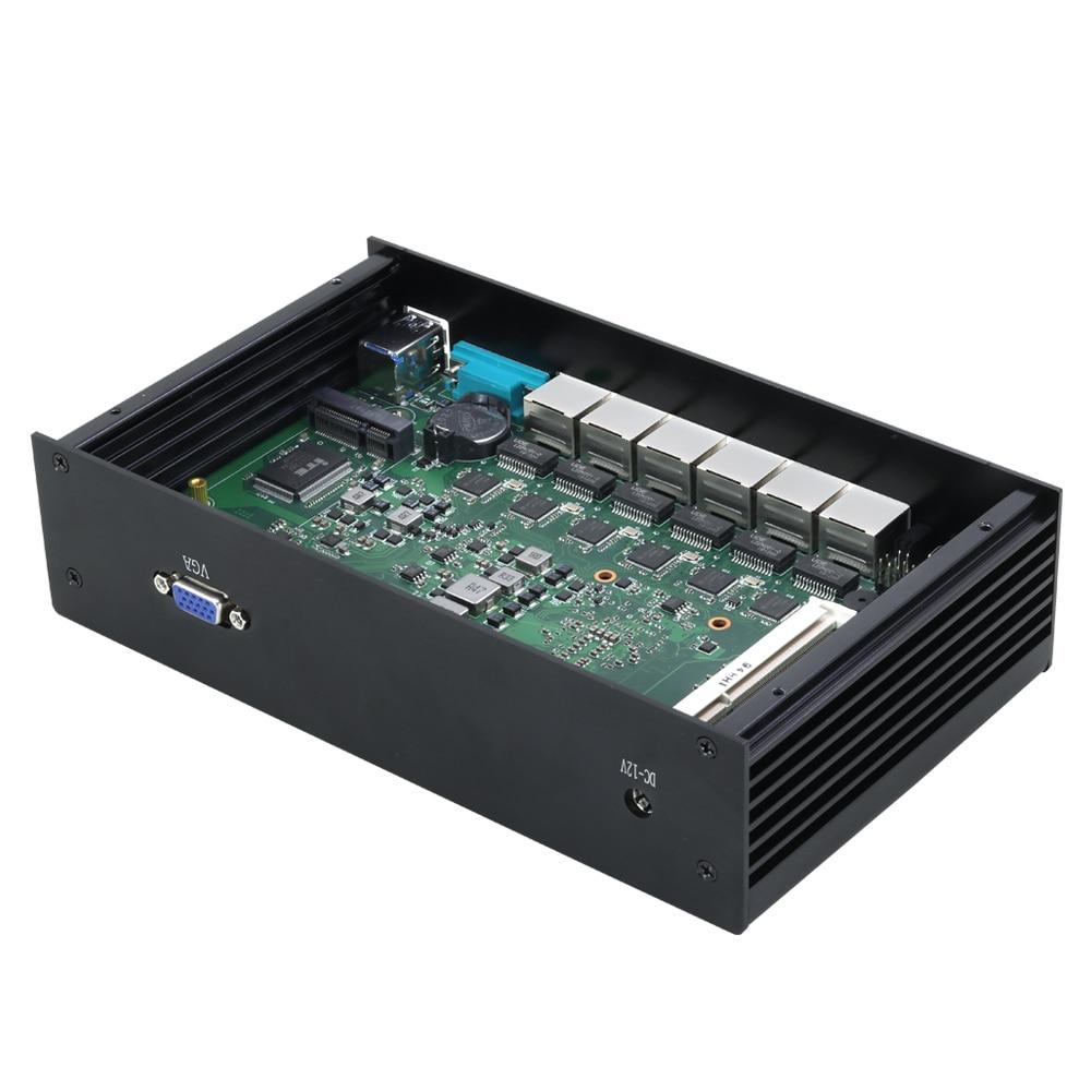XCY Industrial Mini PC with 6 LAN and Intel i3 7100U Celeron 3955U 3855U including HD Graphics 4