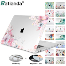 Hard Crystal Floral Case for MacBook Air 12 /air 13  2020 A2337 retina pro 13.3 15 16 touch bar A2338 Flowers Laptop Case Sleeve