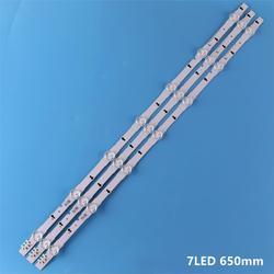Novo kit original 3 pçs 7led 650mm led backlight strip para samsung ue32h4000 D4GE-320DC0-R3 2014svs32hd 3228 BN96-35208A 30448a