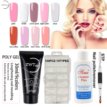 ZWTale Poly Gel Set 30ml 9colors Quick Building Nail Polish Varnish Extentions Polygel