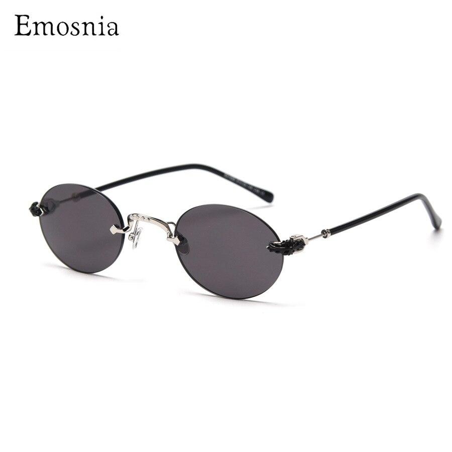 2020 Steampunk Randlose Sonnenbrille Frauen Kleine Runde Luxus Marke Design Sonnenbrille Vintage Mode Eyeware für Männer Rot UV 400