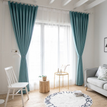 Nordic Simple Solid Curtains for Living Room Dining Room Bedroom Shade Curtains Color Cotton and Linen Curtain Window Screening modern simple cotton linen stereo embroidery curtain dolly curtain screen american country curtains for living room and bedroom