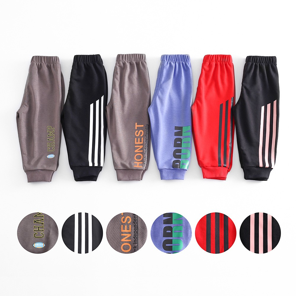 Pants For Children Kids Boys Casual Pants Cotton Girls Long Trousers Toddler Autumn Spring Sport Pants Baby Clothing