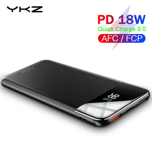 Image 1 - YKZ QC 3.0 LED Power Bank 10000mAh Portable external mobile battery powerbank PD Fast Charger Poverbank For Xiaomi mi Pover bank
