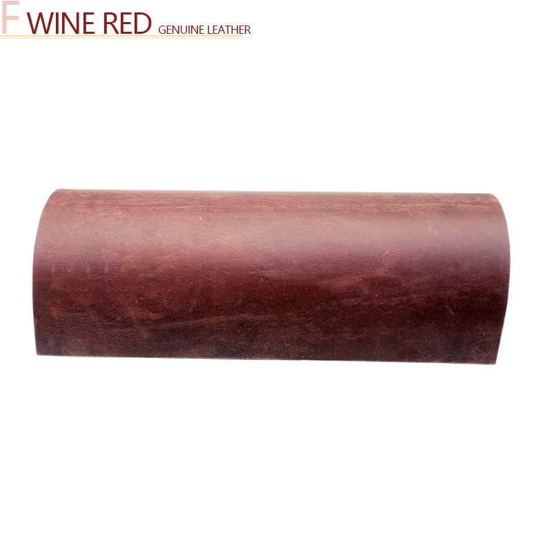 Skóra naturalna 2.0mm nowa skóra crazy horse skóra bydlęca pierwsza warstwa materiału skóra craft DIY czerwone wino