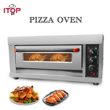 ITOP Electric Oven Cake Pizza Roasted Chicken Stainless Steel Kitchen Baking Machine Single With Pan
