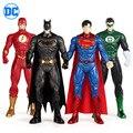 Аниме натуральная Лига Справедливости Супермена, Бэтмена и человека-флэш-зеленый Фонари фигуркы игрушки 32 см светодиодный светильник DC ком...