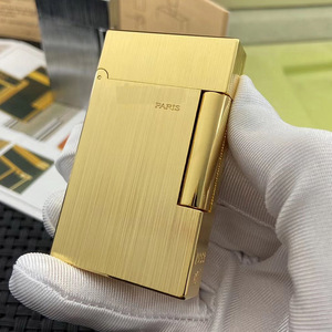 Image 5 - 100% New vintage dupont bright sound gas lighter windproof copper body for cigarette