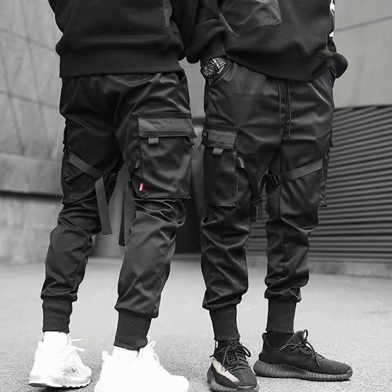 NEW Men Casual Harem Joggers Sweatpant Hip Hop Trousers Multi Pocket Cargo Pants