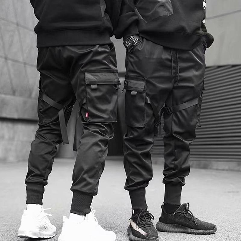 NEW Men Casual Harem Joggers Sweatpant Hip Hop Trousers Multi Pocket Cargo Pants