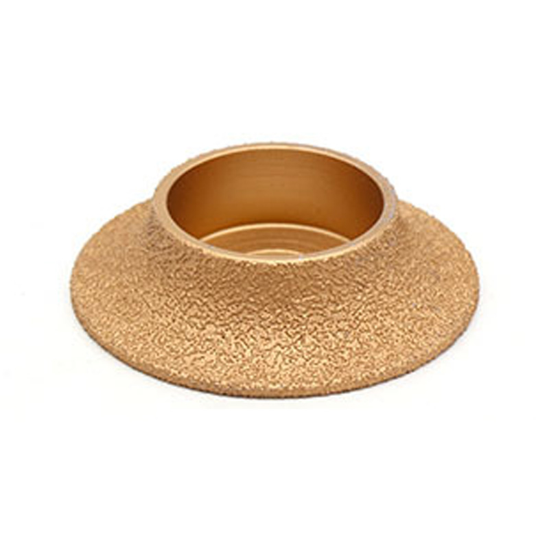 Gold Brazed Diamond Stone Marble Abrasive Wheel Angle Grinder Accessories For Angle Tungsten Carbide Coating Bore Shaping