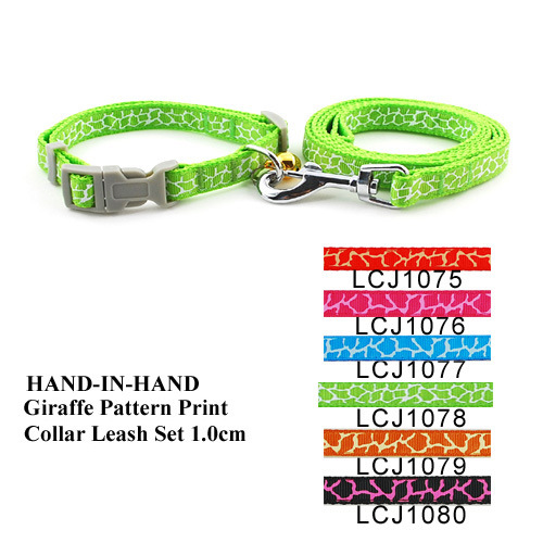 1.0 Cm Giraffe Pattern Lace Small Cats Pull Neck Band Pet Hand Holding Rope