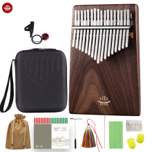 Hluru Black Walnut Kalimba 17 Keys Slope Design Keyboard Music Class A Calimba Instruments With Bag High Quality Thumb Piano