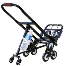 Cart Luggage Hand-Truck Foldable Stair-Climbing Wheels-With 2-Casters 2-Backup