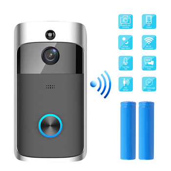 720P Smart Doorbell Camera Wifi Wireless Call Intercom Video-Eye for Doorbell Apartment Monitor Night Vision Intercom Door Phone