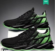 Men s 2021 new summer breathable trend fashion sports running shoes mesh deodorant fly woven casual shoes