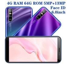 A50 telefones celulares quad core smartphones 4gb ram 64gb telefones celulares android versão global desbloqueado face id 13mp câmera traseira 3g wifi