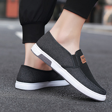 Breathable Casual Shoes Denim Canvas Mens Summer Fitness Men Loafers Sneaker Flat Driving Mesh Sneakers