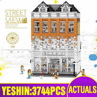 DHL Yeshin 15001 Streetview Building The Crystal House Compatible With Lepining Building Blocks Bricks Kids Christmas Toys Gifts