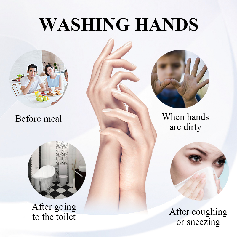 LANBENA Hand Sanitizer Hand Antiseptic Gel Waterless Wash Fungicide Silver Ion Efficient Disinfection Travel Portable Hand Care