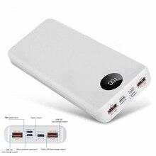 Портативное зарядное устройство Lieve, USB Type-C, Micro USB, Lightning, 20000 мА*ч, QC 3,0