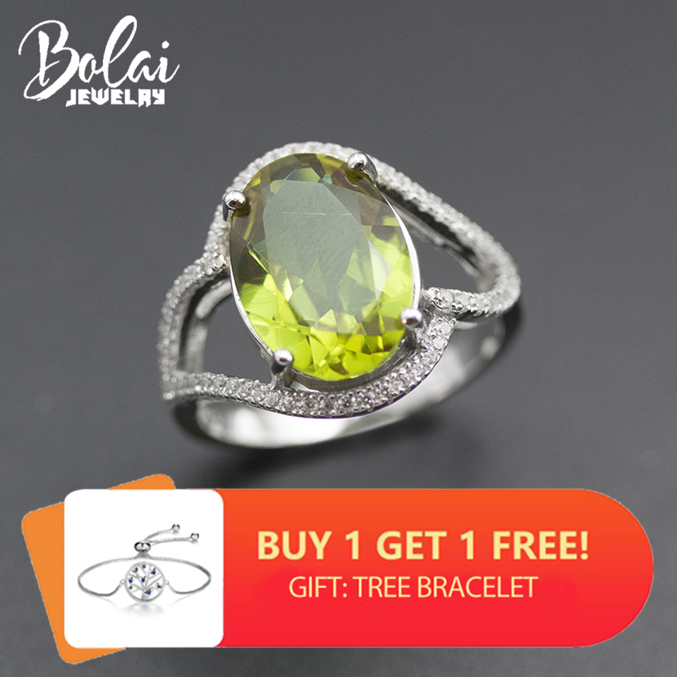 Bolai Oval 14*10mm Sultanit Ring 925 Sterling Silver Color Change Nano Diaspore Multi-color Gemstone Fine Jewelry Women's 11.11
