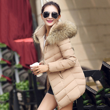 Fashion Women Large Size S-4XL 5XL 6XL Jacket Thick Hooded Long Coat Winter Jacket Female Slim Women's Warm Down Cotton Jacket