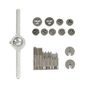 Image 5 - Hampton 20 adet/31 adet metrik konu kılavuz ve pafta seti alaşımlı çelik vida dokunun matkap ucu M1.0 M12 fiş musluklar anahtarı ölür el aletleri