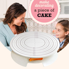 12In Cream Decorating Cake Turntable Stand Light Stable Cake Stand DIY Turntable Cake Tools Baking Gft Set cake decorating tools dcrt rotating cake stand decorating tools set cake turntable icing tips cake spatula scissors set diy baking tool for cake