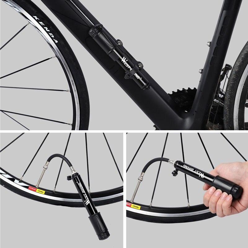 Купить велосипедный насос удобный мини высокого давления для горного