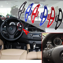купить 2pcs High Quality  Car Steering Wheel Shift Paddle Shifter Extension For BMW X5 M 2010-2013 дешево