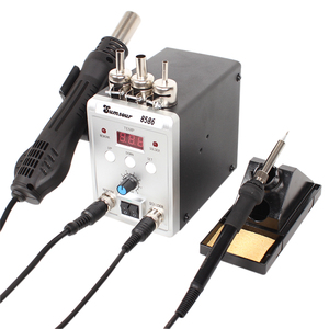 Image 5 - はんだステーション 8586 760 ワット 2 で 1 デジタルディスプレイ smd リワーク熱風銃はんだアイアン 220 220v の esd 溶接はんだ修復ツール