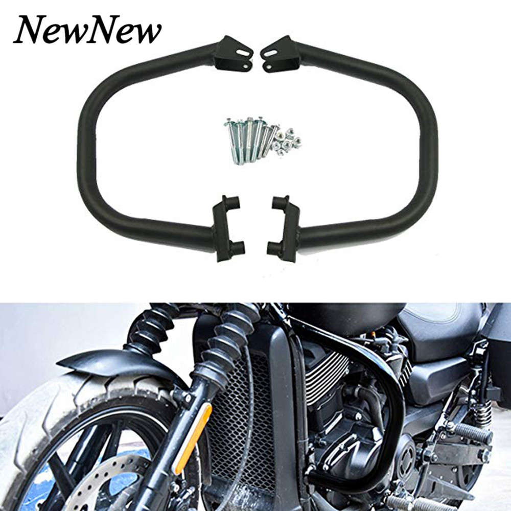 Engine Guards Crash Bars Bumper Stunt Cage Frame Protector For <font><b>Harley</b></font> Street 500 750 <font><b>XG750</b></font> XG500 2015-2019 Street Rod 2017-2019 image
