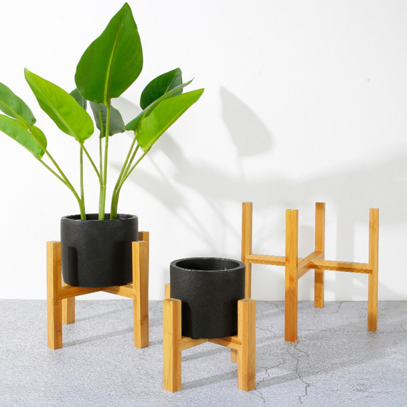 Wood Planter Pot Trays Flower Pot Rack Strong Free Standing Bonsai Holder Home Garden Indoor Display Plant Stand Shelf image