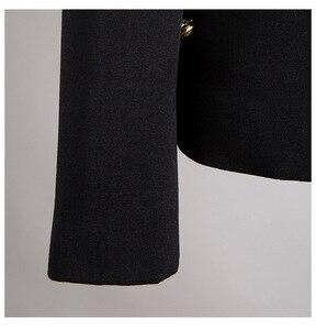 Image 5 - Женский пиджак с отложным воротником EAM, черное Свободное пальто с длинным рукавом, весна осень 2020