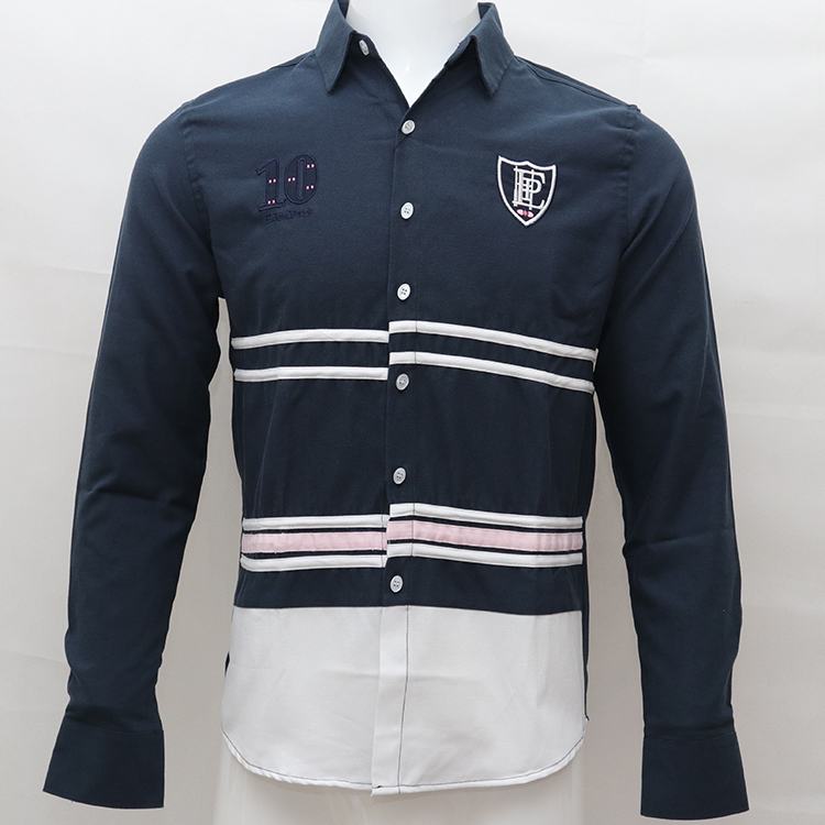 Embroidery Homme Shirt Camisa Masculina Men Long Sleeve Dress Shirts Cotton Social Hombre Eden Park  Rugby Chemises Casual