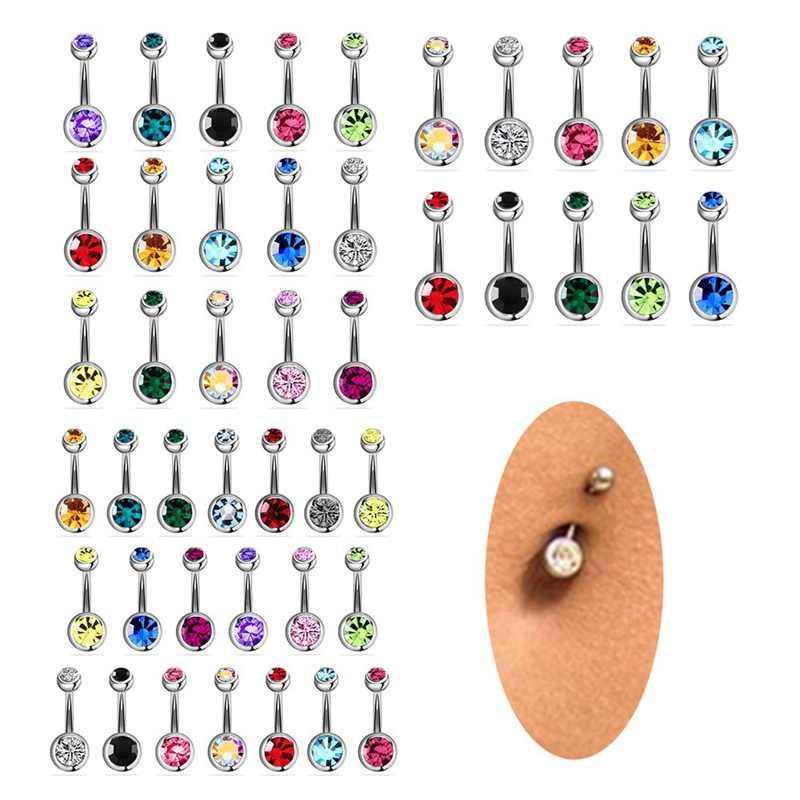 5/10/12/15/20 ชิ้น/เซ็ตเหล็กผ่าตัดเจาะ 14G Piercings Piercing ต่างหู Dangle Belly Bar เครื่องประดับเซ็กซี่