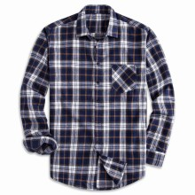 Mens Shirts, European Cotton Plaid Shirt Men, Long Sleeve Shirts Men Hawaiian