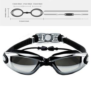 Swim Cap Swimming Glasses Anti-fog Waterproof Swim Goggles Earplug Pool Equipment for Men Women Kids Adult Sports Diving Eyewear