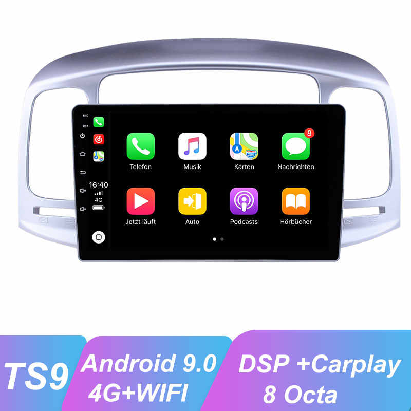 OKNAVI Android 9.0 Car Multimedia Player untuk Hyundai Aksen 2006-2011GPS Multimedia Player Navigasi 4G WIFI Kamera BT Radio