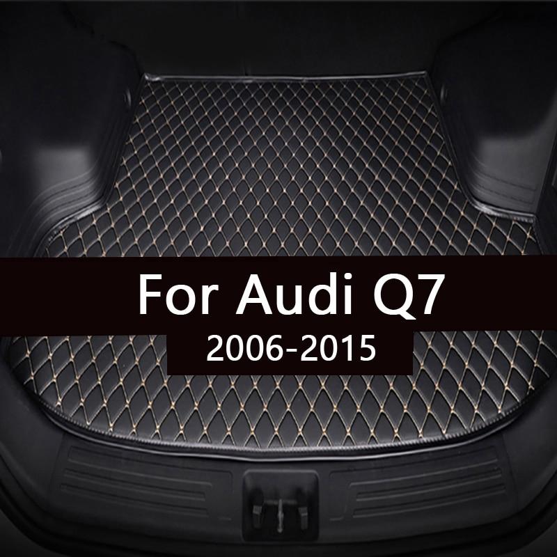 Коврик для багажника автомобиля для Audi Q7, пять сидений 2006-2008 2009 2010 2011 2012 2013 2014 2015, коврик для подкладки груза, аксессуары для интерьера