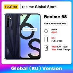 Realme 6S 6 ГБ 128 Гб Смартфон Helio G90T Bluetooth 5,0 мобильный телефон 6,5 дюйм48 МП AI Quad Camera 30 Вт вспышка зарядка 4300 мАч батарея